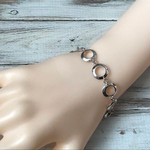 Sterling silver circlet geometric bracelet